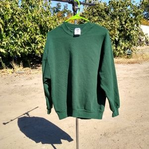 90's Vintage USA Made Basic Green Pullover Sweater